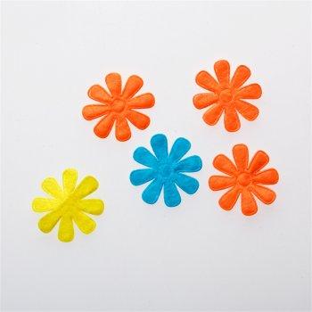 Текстильные дутые элементы цветок 8 лепестков