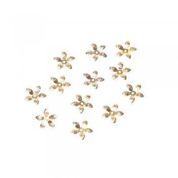 Обниматели золото цветок 15 мм