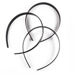 Обруч пластиковый черный ширина 15 мм