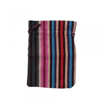 Декоративный мешочек из мешковины 14х10см микс цветов
