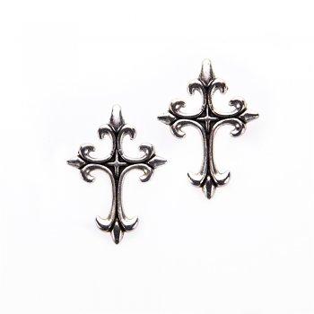 Кулон металлический крест остроконечный