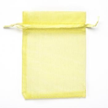 Мешочек из органзы 9х12 см желтый
