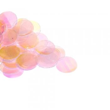 Паетки светло-розовые с бензиновым покрытием