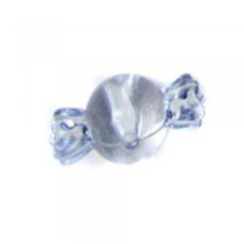 Пластиковые кристаллы оригинальные. Бусина-конфета синяя большая