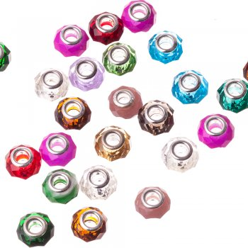 Намистини шарм скляні мікс кольорів 10 мм