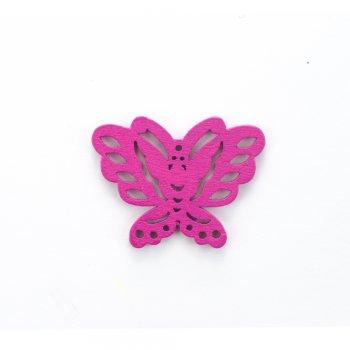 Дерев'яна підвіска Метелик Малиновий