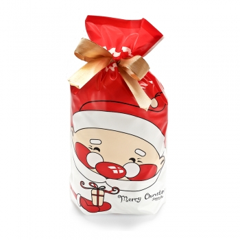 Пакет для подарков красный с Дедом Морозом