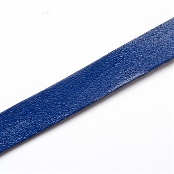 Стрічка з пресованої шкіри 10 мм синя