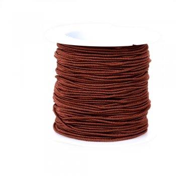 Шнур-резинка коричневый полиэстер с эластаном 1 мм