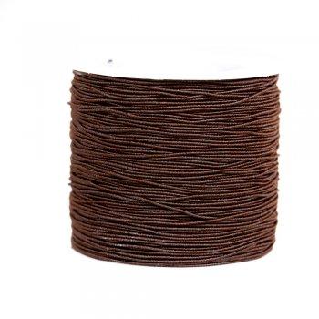 Шнур-резинка коричневый текстиль 0,6 мм