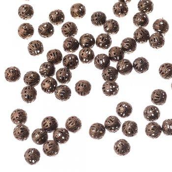 Ажурні намистини бронзовий 8 мм