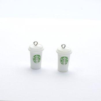 """Пластикова підвіска """"Кава Starbucks"""""""