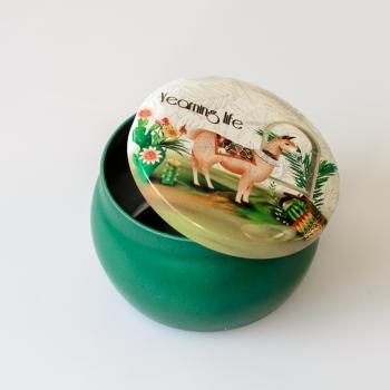 Коробочка жестяная 5х6,5 см