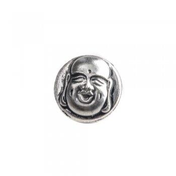 Бусина кнопка SNAP с эмалью Будда