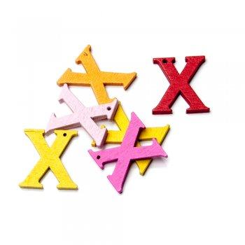 Підвіски дерев'яні, буква X