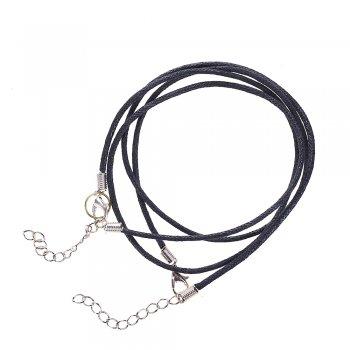 Шнур для кулона, хлопковый, 2 мм, чёрный