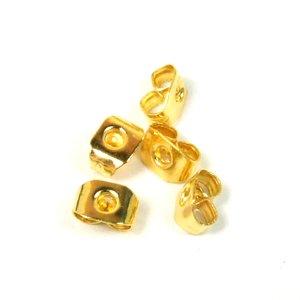 Фиксатор для серег прямоугольный золотой
