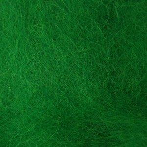 Шерсть новозеландська кардочёсанная зелена 25г, К5006