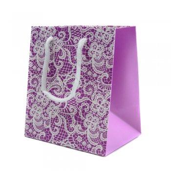 Пакет  подарочный - кружевной