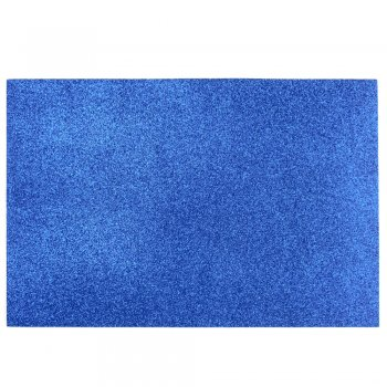 Фоамиран с глиттером 20 х 30 см синий