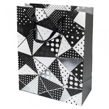 Пакет картонный 25х32х10 см Геометрические формы