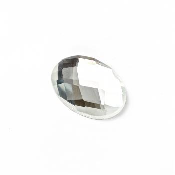 Стразы стеклянные клеевые 18х13мм прозрачные уп. 2шт