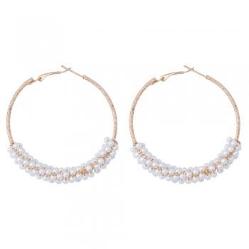 Сережки з перлинами під золото