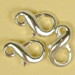 Карабин 8-образный, серебро, 12 мм