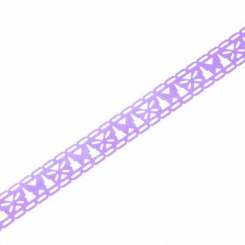 Скотч с узором 15 мм, 1м фиолетовый