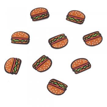 Пластикові клейові елементи гамбургер, 25х19 мм