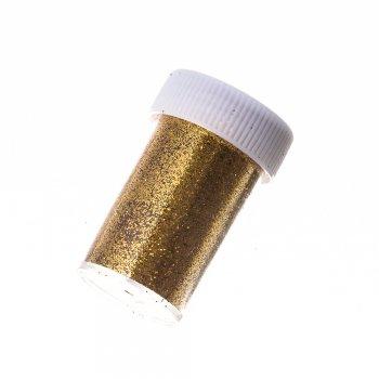Блестки для декорирования в кор. Золотистый. Длина упаковки 50 мм, ширина 31 мм.