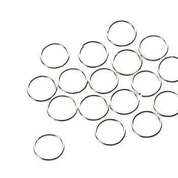 Біжутерні кільца, під срібло, 16 мм