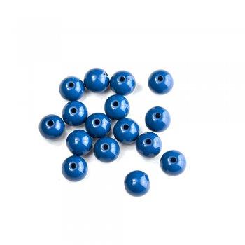 Намистина 7мм. Темно синя. Пластик одноколірний.