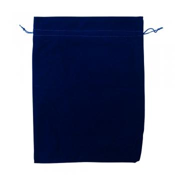 Декоративний мішечок оксамитовий 40х30 см синій