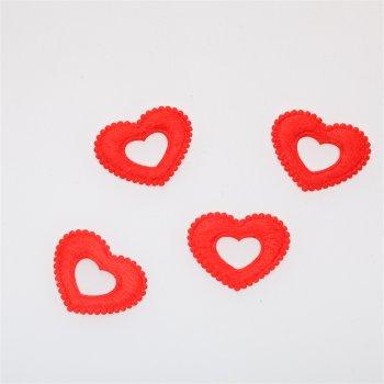 Текстильні дуті елементи червоне серце