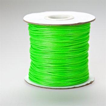 Плетёный шнур салатовый, хлопок с пропиткой, 1 мм
