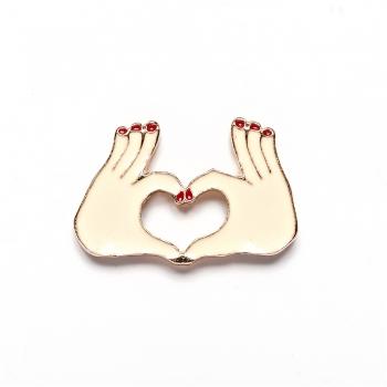 Значок пин Сердце руками