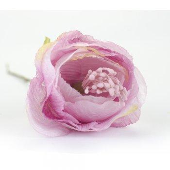"""Текстильные цветы """"Пион"""" розовый"""
