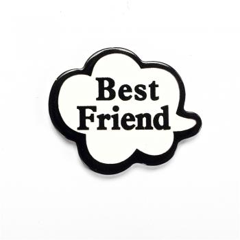 Best friend. Пластиковий клейовий елемент, 31х25 мм