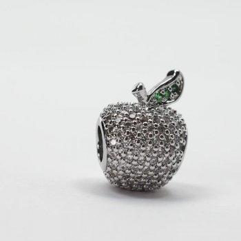 """Металева намистина """"шарм"""" LUX Яблуко"""