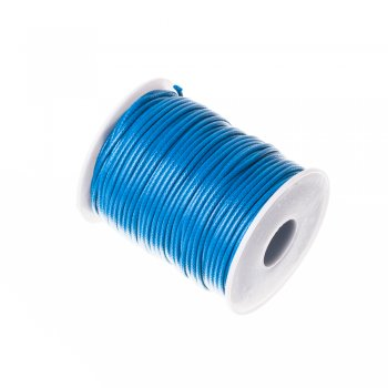 Плетёный шнур тёмно-синий синтетика 2 мм