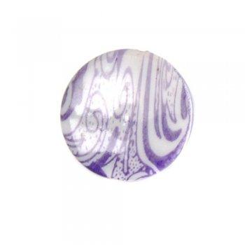 Намиста пластикові квітковий візерунок круглі плоскі