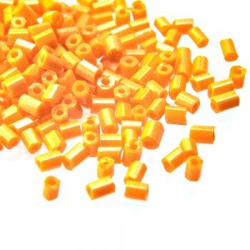 Бисер-рубка оранжевый глянец 2.1 мм стекло