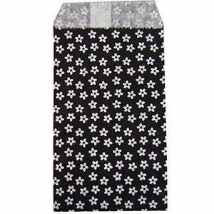 Пакети паперові. Чорний з малюнком. 8х15 см