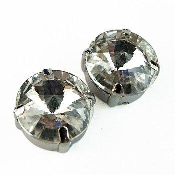 Стразы стеклянные в металической оправе