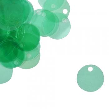 Паєтки для в'язання 40 гр зелені прозорі