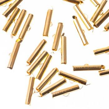 Зажимы для лент цилиндр золото