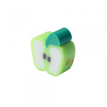 Бусина из полимерной глины Яблоко зеленое 10 мм