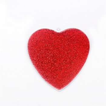 Кулон металлический малиновое сердце