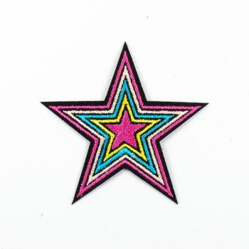 Тканевая нашивка Звезда цветная